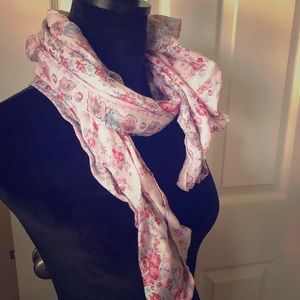 Pink flowery scarf 🧣 from Marcus Adler New York